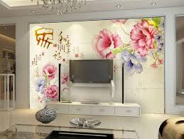 lcd tv cabinet with beautiful wallpaper design id853 lcd cabinet