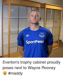 Funny Everton Memes - sportpeso everton s trophy cabinet proudly poses next to wayne