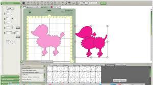 Cricut Craft Room Software - cricut craft room poodle tutorial no cartridge needed youtube