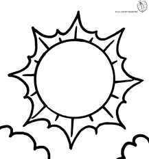 coloring page of cloudy weather for coloring for kids sketchue com