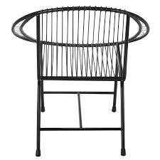 metal chair black veranda patio modern wire outdoor chair black