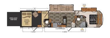 Voltage Toy Hauler Floor Plans | voltage 3800 toy hauler floorplan details c trailer
