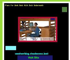 plans bunk bed with desk underneath 170936 the best image search