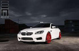 custom bmw m6 outside the box white bmw m6 gran coupe with red custom rims