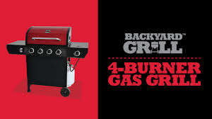 backyard grill 4 burner gas grill by14 101 001 99 youtube
