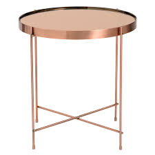 Outdoor Metal Side Table Modern End Tables Trinity Copper Side Table Eurway