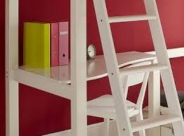 High Sleeper With Futon And Desk Warwick High Sleeper With Child U0027s Futon Silk White