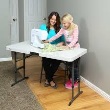 lifetime folding tables 4 4 foot commercial adjustable folding table almond lifetime 80387