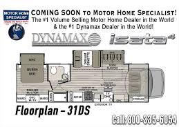 Luxury Rv Floor Plans 2018 Dynamax Corp Isata 4 Series 31dsf Luxury Class C Rv For Sale