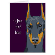 doberman cards zazzle