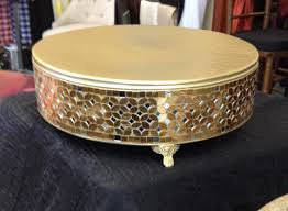gold cake stands 16 inch rd gold mosaic cake stand rentals murfreesboro tn where