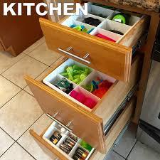 amazon com adjustable drawer dividers for utility u0026 junk drawer