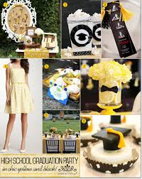 school graduation party high school graduation party in chic yellow and black