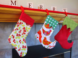 Homemade Christmas Stockings by Sewing Christmas Stocking Pattern