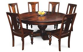 Endearing Solid Wood Round Dining Table Round Wood Dining Table - Kitchen table sets canada