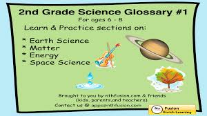 2nd grade science glossary 1 learn and practice worksheets for