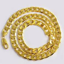 aliexpress buy new arrival fashion 24k gp gold online shop 1cm wide 60cm 24kgp gold chains large men s 24k