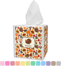 traditional thanksgiving tissue box cover personalized potty