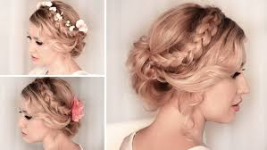 hairstyles for medium length hair with braids photo prom hairstyles for medium length hair braids braided updo