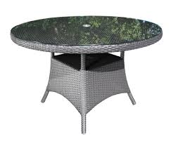 Plastic Patio Table Round by Solano Round Wicker 42