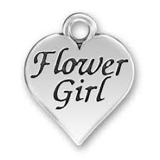 flower girl charms flower girl charm