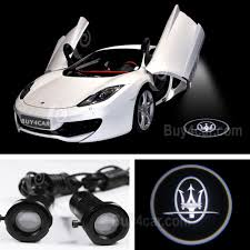 maserati logo white 3d laser car door lamp led ghost shadow car logo light for