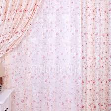 Peach Floral Curtains Floral Curtains With Rose Printed Flowers