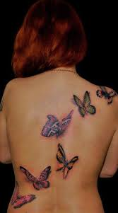 butterfly on back design of tattoosdesign of tattoos