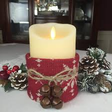 christmas decorating ideas flameless candle rustic christmas