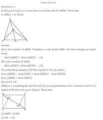 ncert solutions for class 9th maths chapter 9 areas of