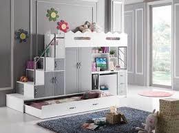 lit combin avec bureau marche vers le côté lit combiné mezzanine coloris gris et