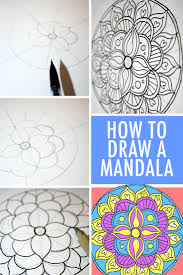 how to draw coloring pages how to draw a mandala with free coloring pages
