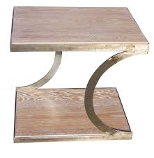 Oak Side Table Unique Metal And White Oak Side Table U2013 Mortise U0026 Tenon