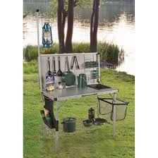 rio brands deluxe suitcase style camp kitchen 678964 tables at