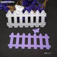 Stencil Template Maker farm gate garden fence cutting dies hedge gate diy card template