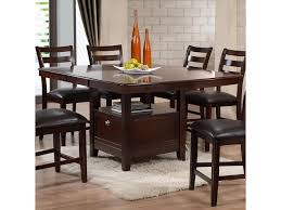 Dining Room Tables With Leaf Holland House 1965 Dining Contemporary Pub Table With Storage Base