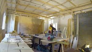 time lapse building a cinema room youtube