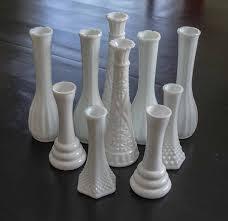 milk glass vases set of 10 vases wedding centerpieces shabby