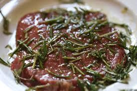 plancha de cuisine pavé de bœuf au romarin à la plancha château de la gardine