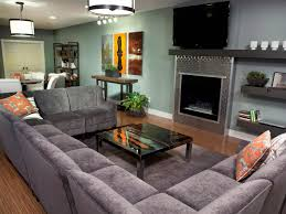 Contemporary Gray Living Room Furniture Large Sectional Sofas With Recliners Leather Sectional Large