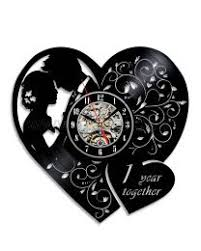 personalized anniversary clocks creative vinyl records wall clocks gifts ideas personalized