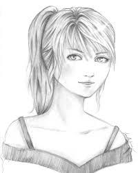 alice semi realism sketch by aritha on deviantart