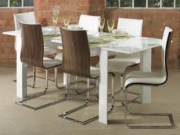 White Gloss Extendable Dining Table White High Gloss Dining Tables Living Room Decoration
