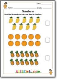 fruits counting worksheet class 1 mathematics printable worksheets