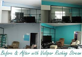 before and after with valspar rushing stream white paints room