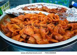 cuisine soldee food spicy kimchi sold gwangjang stock photo 705336868