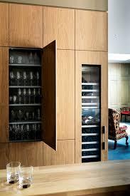 kitchen design ideas bulthaup grey units worktop wine fridge