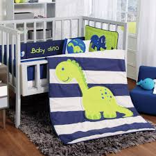 Crib Bedding Green Blue White Green Baby Dino Dinosaur Boy Crib Bedding Nursery Set