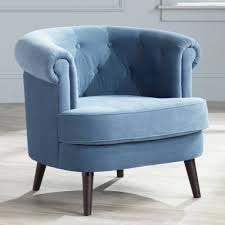 Blue Accent Chairs For Living Room by Amazon Com Sauder 418931 Elwood Accent Chair Blue Medium