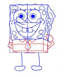 learn to create a sketch of spongebob